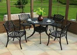 patio furniture metal patio table and chairs side glass with