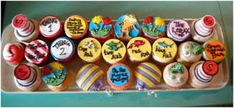 dr seuss cupcakes dr seuss blue black ink