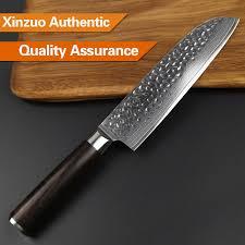 couteau de cuisine chinois xinzuo 3 pcs couteaux de cuisine ensembles chinois damas couteau de