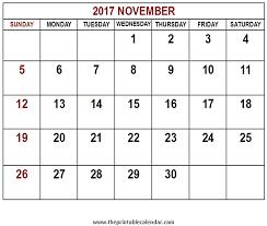 printable calendar page november 2017 printable 2017 november calendar