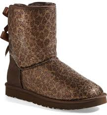 ugg womens boots bailey bow ugg australia bailey bow glitter boot nordstrom