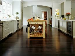 dark bamboo flooring in kitchen