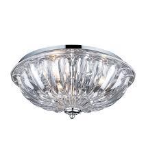chrome flush mount light elk 31242 3 crystal 3 light 16 inch polished chrome flush mount