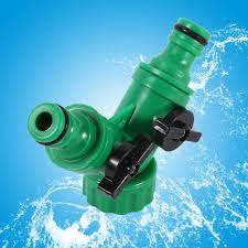 2 way hose pipe adapter y connector quick coupling for garden drip