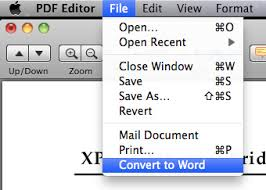 Pdf To Word How To Convert Pdf To Word With Pdf Editor For Mac