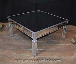 mirrored glass coffee table art deco mirrored coffee table glass cocktail tables ebay