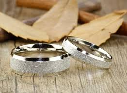couple rings titanium images Handmade wedding bands couple rings set titanium rings set jpg