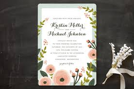 wedding invitations floral floral garden wedding invitations by karidy walker minted