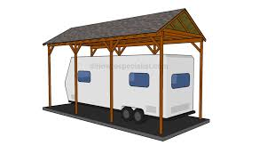 How To Build A Shed Base Out Of Wood by Build A Cover Over An Rv How To Build A Wooden Carport Home