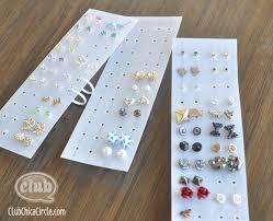 organize stud earrings easy plastic earring organizer s stuff