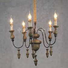 Lighting Fixtures Manufacturers European Antique Wood Chandelier Living Room Hotel Villa