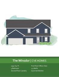 Windsor Homes Floor Plans by Cve Homes Floor Plans Two Story The Winsdor