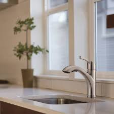 kitchen pullout faucet seaton kitchen pull out faucet in brushed nickel by waterridge