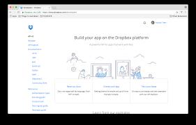 documentation dropbox integration