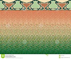 seamless smooth transition of color mosaic from brown to green and