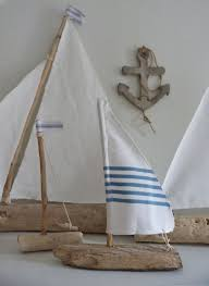 Driftwood Home Decor Driftwood Sailboat Rustic Nautical Home Decor By Beachcomberhome