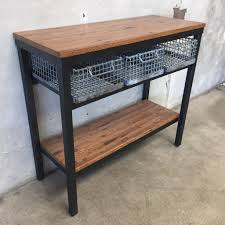 industrial console table with drawers console table ideas modern multi industrial cherry wood narrow