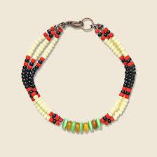 red bead bracelet images Montagnard beaded bracelet red cream jpg