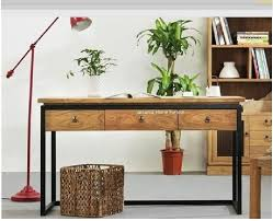 country wrought iron vintage desk with drawers wood desk computer