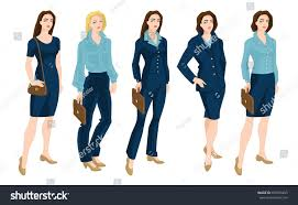 vector illustration corporate dress code business stock vector