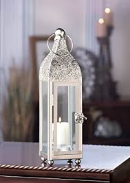 amazon com slim silver chic moroccan shabby candle holder small