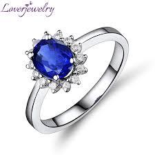 model cincin blue safir blue sapphire ring diamond engagement ring 18kt white gold