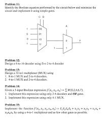 Map Equation Problem 1 Simplify The Following Equations Using Chegg Com
