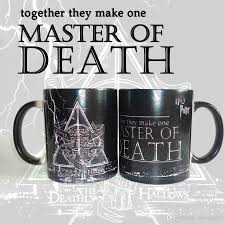 new harry potter magic mugs master of death mugs color changing