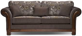Chenille Living Room Furniture by Hazel Chenille Full Size Sofa Bed Quartz The Brick Home