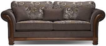 Wooden Carving Furniture Sofa Hazel Chenille Full Size Sofa Bed Quartz The Brick Home