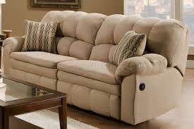 Microfiber Reclining Sofa Microfiber Reclining Sofa Loveseat W Pillow Arms
