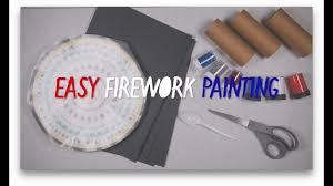 diy crafts easy firework painting for kids youtube