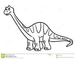 diplodocus dinosaur jurassic period coloring pages stock