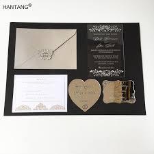 acrylic wedding invitations 115x175mm rectangle shape clear acrylic wedding invitation card