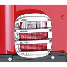 Jeep Jk Tail Light Covers Rugged Ridge 11354 03 Tail Light Guards Chrome 76 06 Jeep Cj And