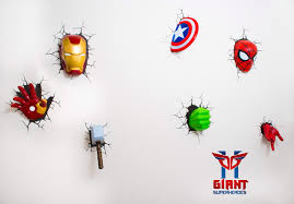 3d deco superhero wall lights challenge superhero night light marvel avengers hulk head 3d deco