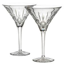 martini glass cheers amazon com waterford crystal lismore tall martini glasses pair