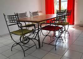 chaises en fer forgé achetez tables et chaises occasion annonce vente à cesson sévigné