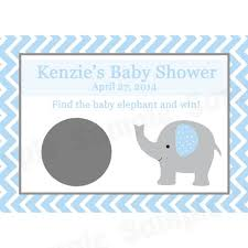 baby shower scratch 24 baby shower scratch cards elephant blue