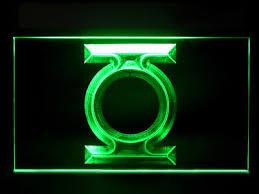 green lantern neon light green lantern neon sign retailer advertising dc comics 17 x 24