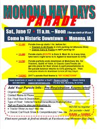 for parade 6 17 17 hay days parade monona chamber economic development inc