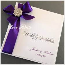 Wedding Invitations Purple Wedding Invitations With Purple Ribbon Pacq Co