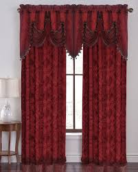 Curtains And Valances Hlc Me Portofino Burgundy Jacquard Curtain Valances