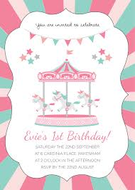 carousel birthday invitations u2013 bagvania free printable invitation