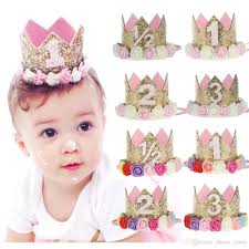 flower hair accessories new fashion crown headbands baby hair accessories sequins