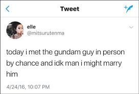 he showed her his u0027gundam u0027 and a social media love story ensued