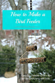 log cabin bird feeder kid friendly bread and peanut butter bird
