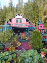 freedom cove float house garden vancouver island off the grid