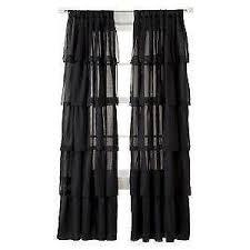 Sheer Ruffled Curtains Stylish Idea Black Ruffle Curtains Ruffled Ebay Curtains Ideas