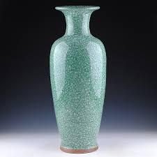 jingdezhen ceramics green porcelain antique vases open